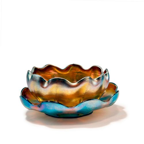 Finger bowl with saucer, c. 1905