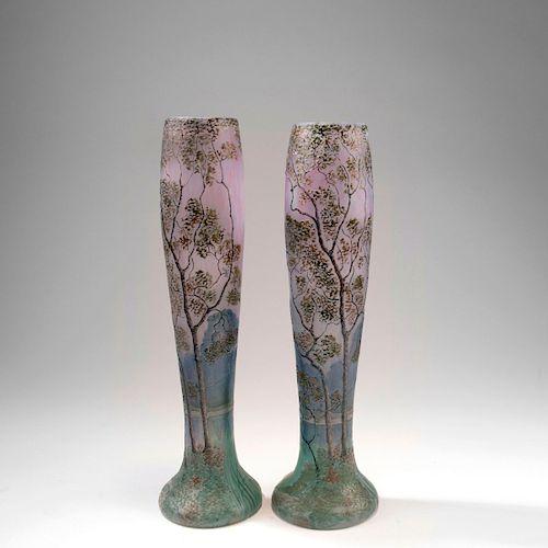 Two 'Paysage lacustre' vases, 1910-15