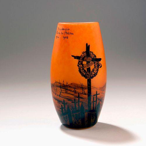 Souvenir de Bois-le-Prミtre' vase, 1918