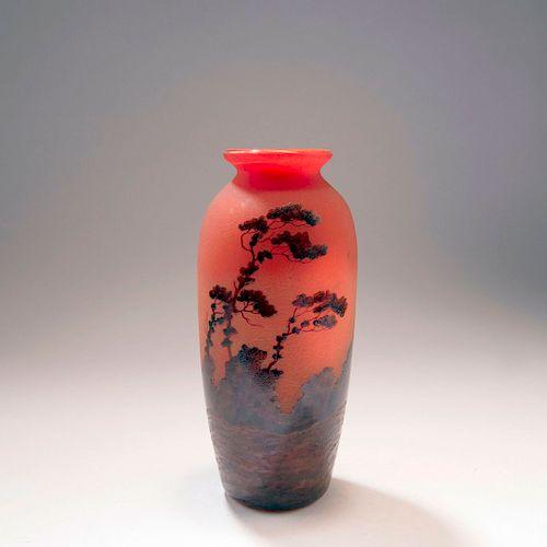 Paysage, soleil couchant' vase, 1920s