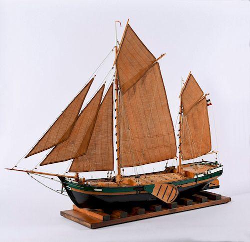 Model flat-bottomed boat 'Hermann'