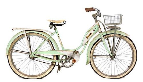A Vintage Schwinn Cruiser Bicycle Width 69 inches  by Hindman