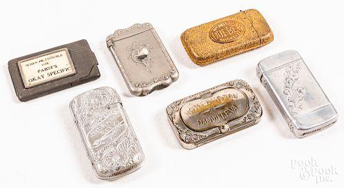 Six match vesta safes