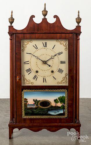 Olcott Cheney Federal mahogany clock