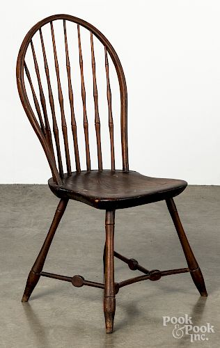 Bowback Windsor side chair, early 19th c.