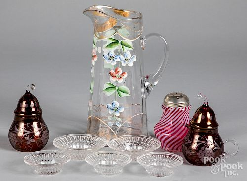 Group of glass, etc.