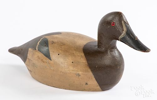 Wisconsin carved and painted duck decoy