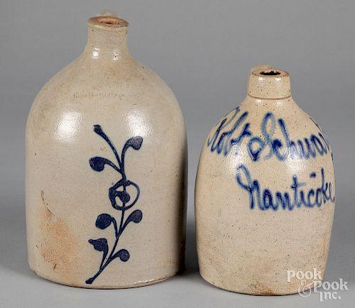 Pennsylvania stoneware merchants jug, etc.