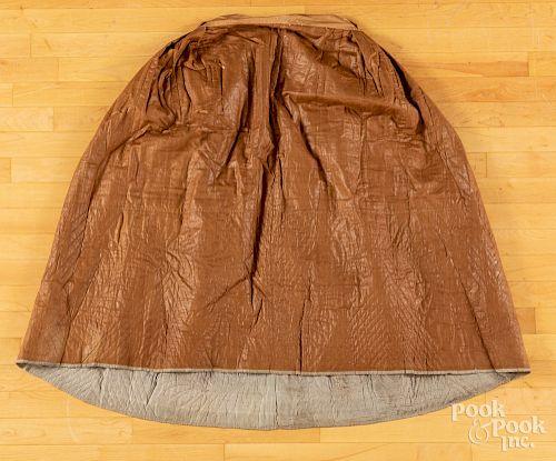 Chintz skirt, ca. 1800.