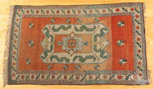 """Contemporary Kazak carpet, 7'2"""" x 4'3""""."""