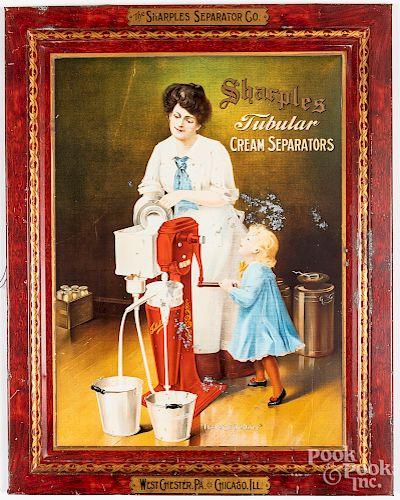 Sharples Separator Co. tin advertising sign