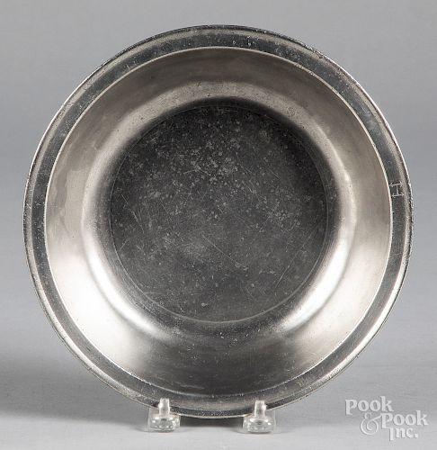 Philadelphia pewter basin, late 18th c.