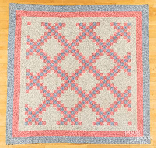 Two pieced quilts, early 20th c., etc.
