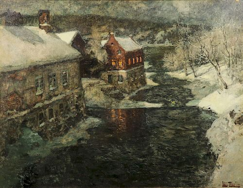 SPECTACULAR FRITS THAULOW PAINTING