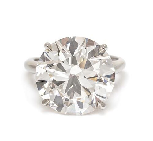 A Platinum and Diamond Solitaire Ring, 5.05 dwts.