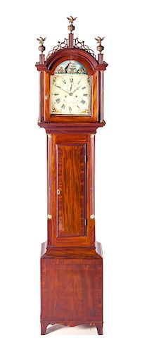 Simon Willard Rocking Ship Tall Case Clock
