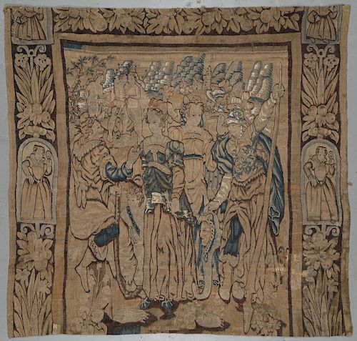 17th C. Pictorial Tapestry, France: 8'6'' x 9'0''
