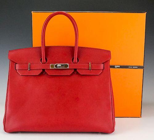 Hermes Rouge Garance Red Birkin Bag 35 cm Handbag by Hill Auction ... 8d2040d1d6