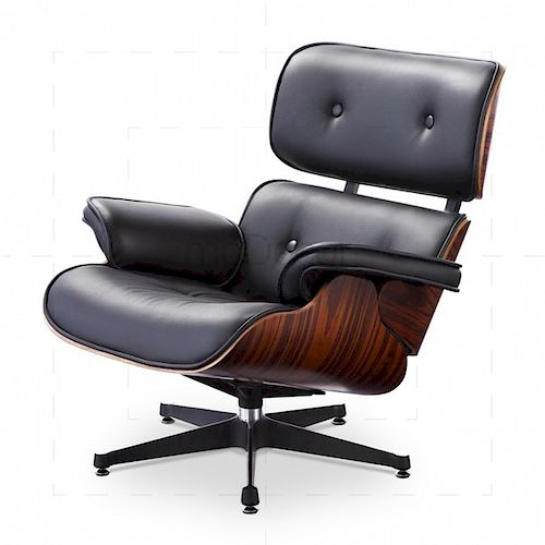 Peachy Charles Ray Eames Black Leather Lounge Chair 670 By Hill Cjindustries Chair Design For Home Cjindustriesco