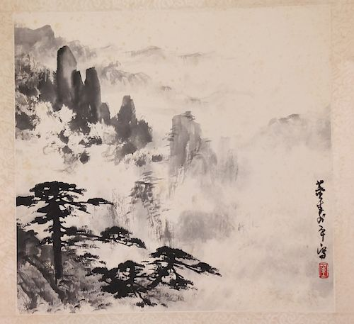 47d4102c687a9 Asian Chinese Japanese Oriental Scroll Painting by Hill Auction ...