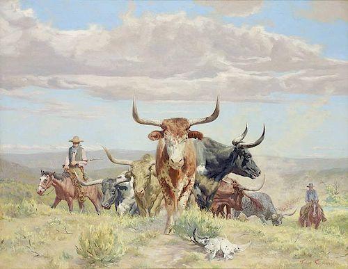 Tom Ryan 1922 - 2011  CAA, NAWA | White Horns