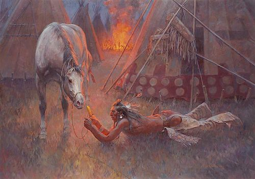 Roy Andersen b. 1930 CAA, NAWA, OPA | Cutting the Piegan Pony