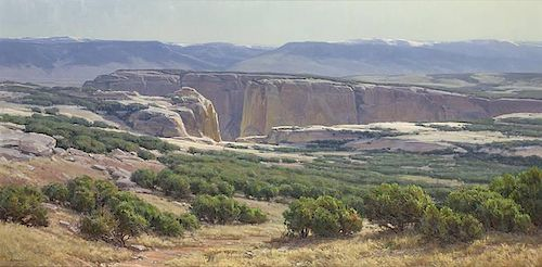 Clyde Aspevig b. 1951 NAWA, OPA, NWR | Southwestern Landscape