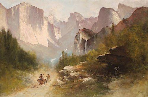 Thomas Hill 1829 - 1908 | In the Gorge - Yosemite