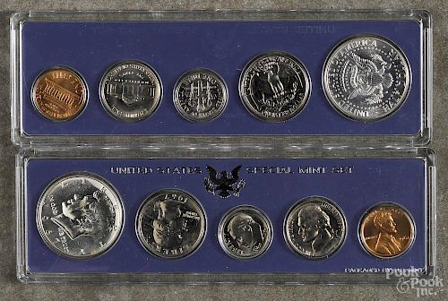 Two United States special mint sets, 1966 and 1967.