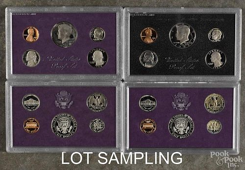 Eight United States proof sets, to include two 1983, two 1984, two 1985, and two 1986.