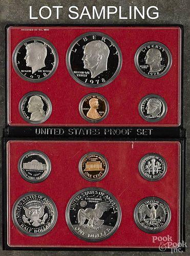 Six United States proof sets, 1978.