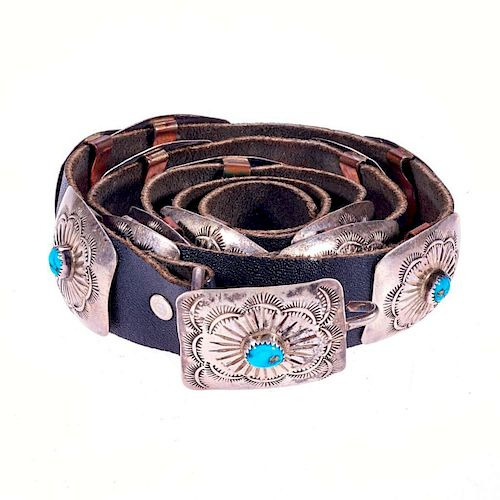OLD PAWN CONCHO BELT
