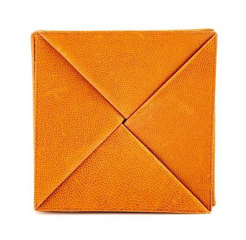 edea95f3ee An Hermès Orange Leather Zulu Coin Purse