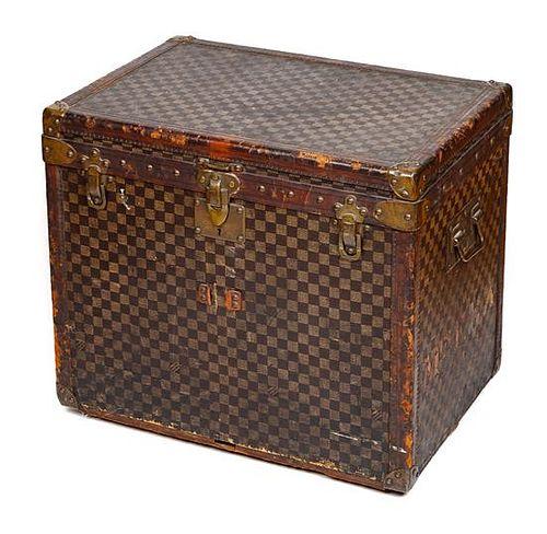 "A Louis Vuitton Vintage Damier Steamer Trunk, 20.5"" H x 23.5"" W x 16.5"" D."