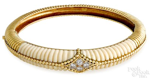 18K gold Van Cleef & Arpels diamond bracelet