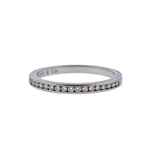 Tiffany & Co Platinum Diamond Half Band Wedding Ring