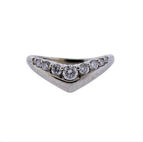 14k Gold Diamond Wave Ring