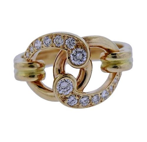 Chaumet 18K Gold Diamond Ring