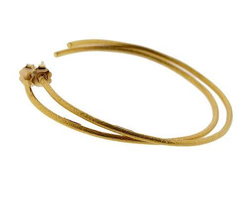 Yossi Harari 24K Gold Hoop Earrings