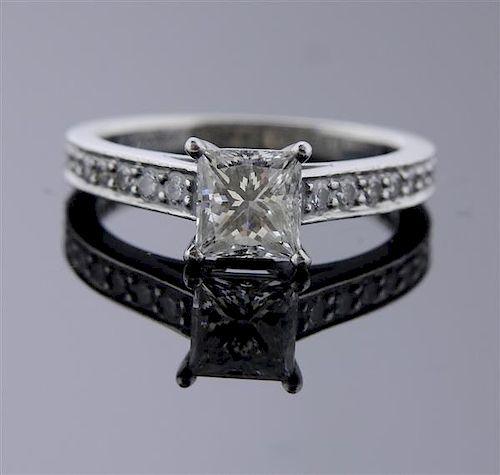 Cartier Platinum 1.01 Ct Princess Cut G VS1 Diamond Engagement Ring