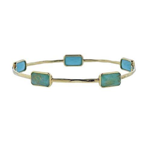 Ippolita Rock Candy Turquoise Quartz  18k Gold Bracelet
