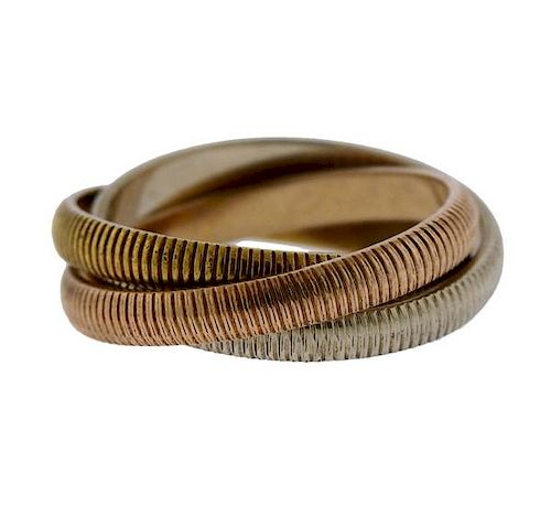 Vintage Cartier Trinity 18k Tri Color Gold Ring
