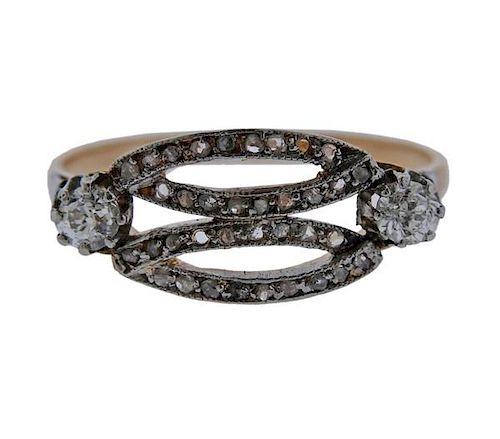 Antique 18K Gold Diamond Ring