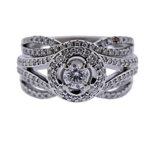 14K Gold Diamond Bridal Ring Set
