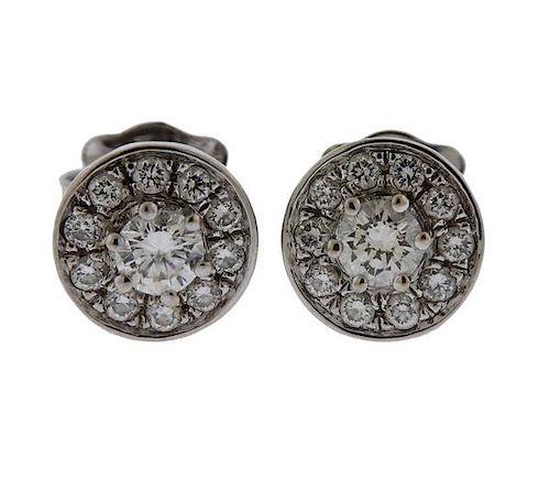 Tous 18k Gold Diamond Stud Earrings