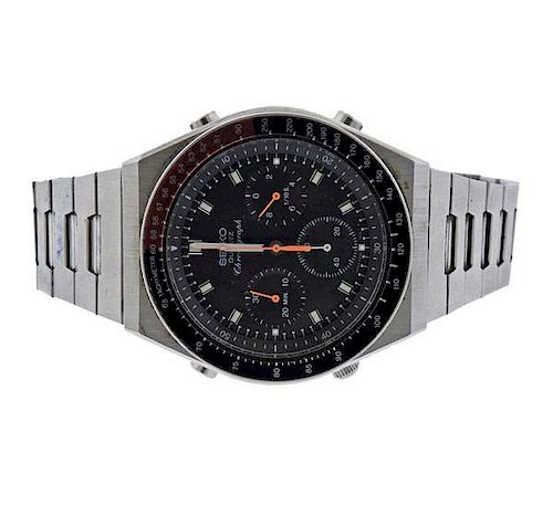 Seiko Chronograph Stainless Steel Quartz Watch