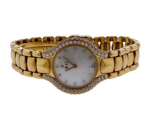 Ebel Beluga 18K Gold MOP Diamond Lady's Watch