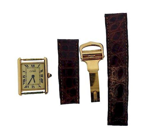 Cartier Must De Vermeil Quartz Watch