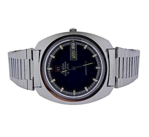 1970s Omega Electronic Day Date Chronometer Watch
