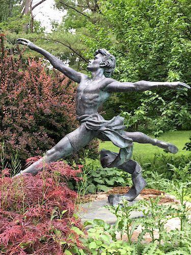 "LIFE SIZED BRONZE ""JETE"" BY ENZO PLAZOTTA"
